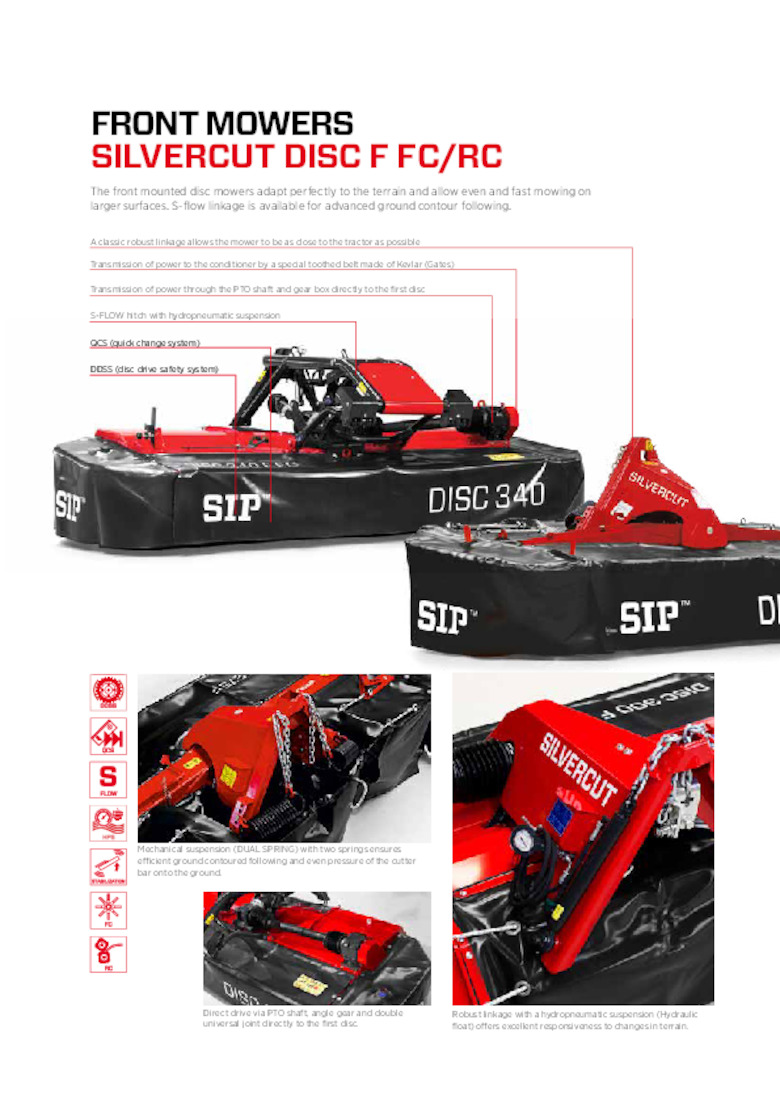 SILVERCUT Front Linkage Disc Mower