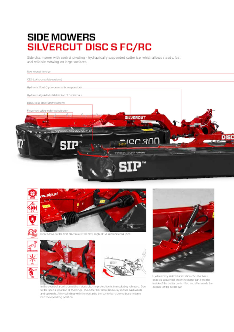 SILVERCUT Rear Linkage Disc Mower