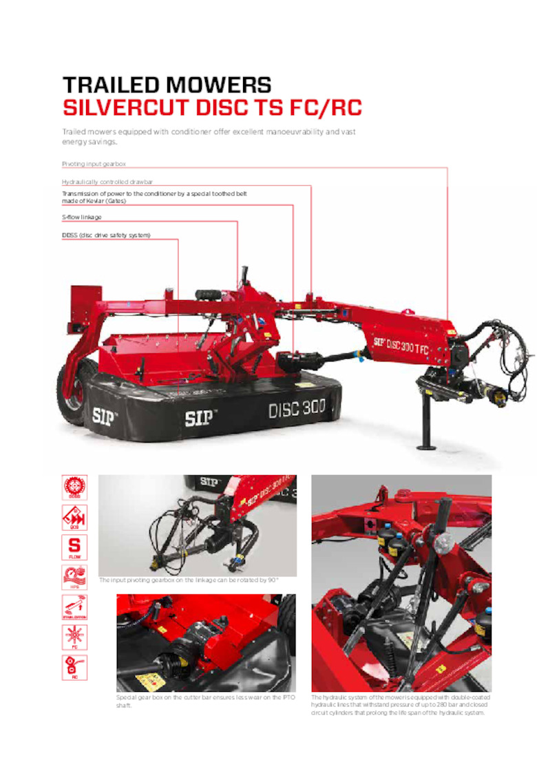 SILVERCUT Trailed Disc Mower